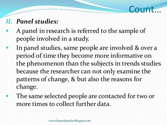 what is a panel study