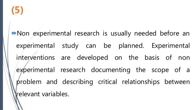 what is non experimental research design