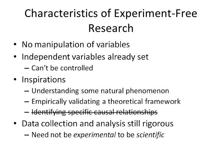 non experimental research design methods