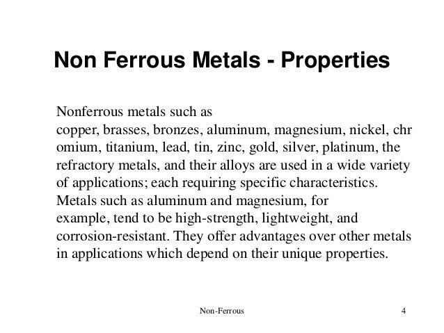 Non ferrous metals properties