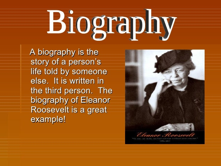 example of non fiction biography