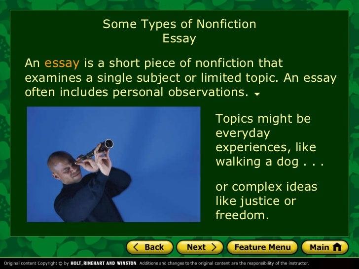 Famous short nonfiction essays