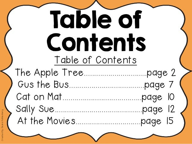 apple pages pdf table of contents