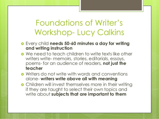 lucy calkins literary essays writing about reading Lucy calkins, founding director of the reading and writing project at  is a unit  on teaching kids to write literary essays—interpretive essays,.