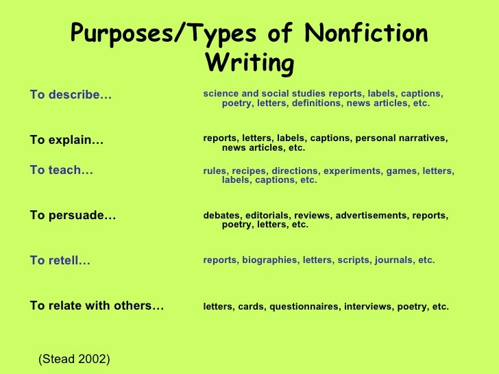 nonfiction examples