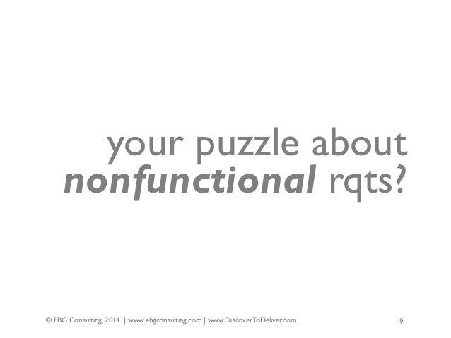 Nonfunctional requirements-forgotten-negleted