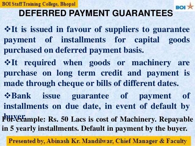 fund based credit facilities bg lc