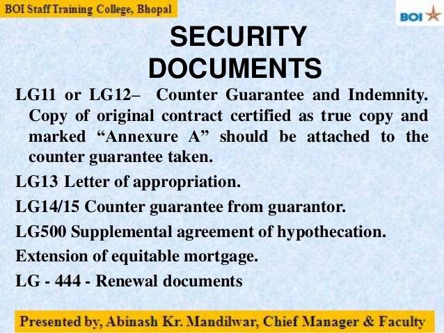 Non Fund Based Credit Facilities Bg Lc