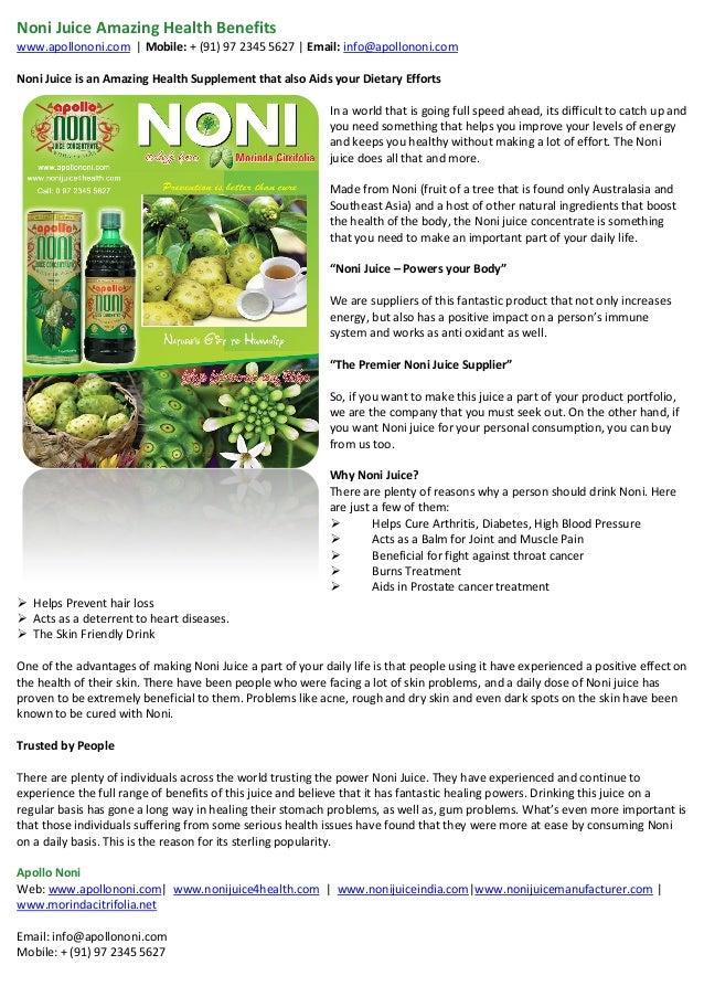 Benefits of Tahitian Noni | Healthfully