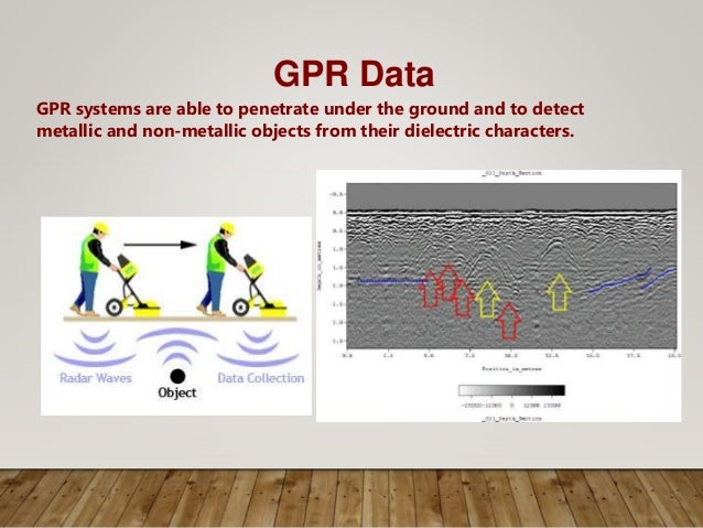 GPR Data GPR systems are able to penetrate under the ground and to detect metallic and non-metallic objects from their die...