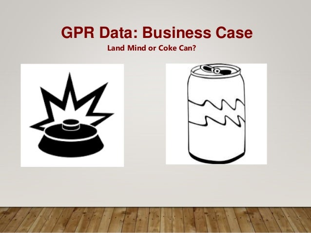 GPR Data: Business Case Land Mind or Coke Can?