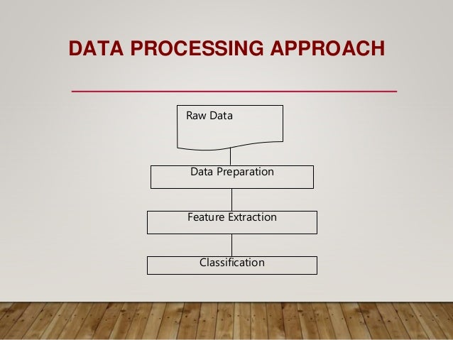 DATA PROCESSING APPROACH Raw Data Data Preparation Feature Extraction Classification
