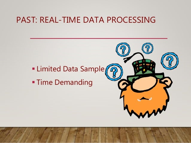PAST: REAL-TIME DATA PROCESSING  Limited Data Sample  Time Demanding