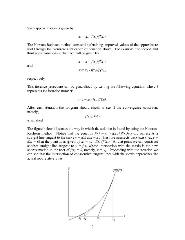 Solution of non-linear equations