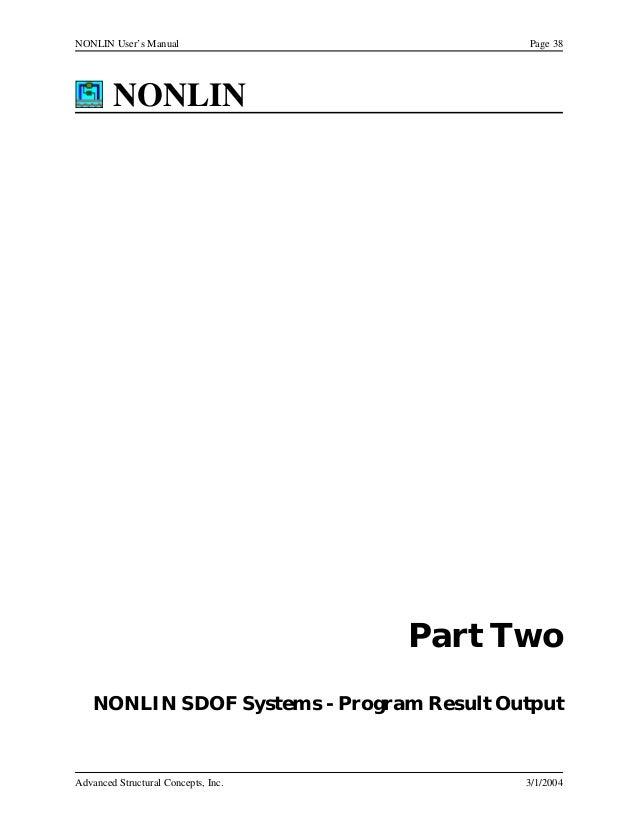 Nonlin users manual