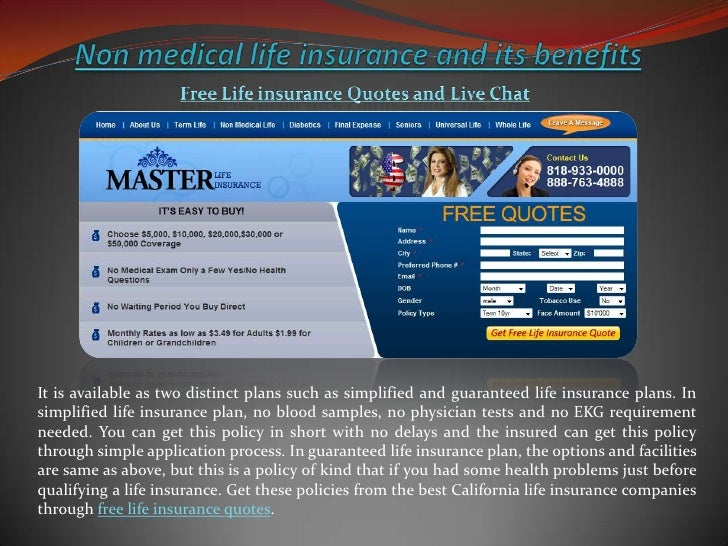 Non Medical Life Insurance Quotes Enchanting Non Medical Life Insurance And Its Benefits