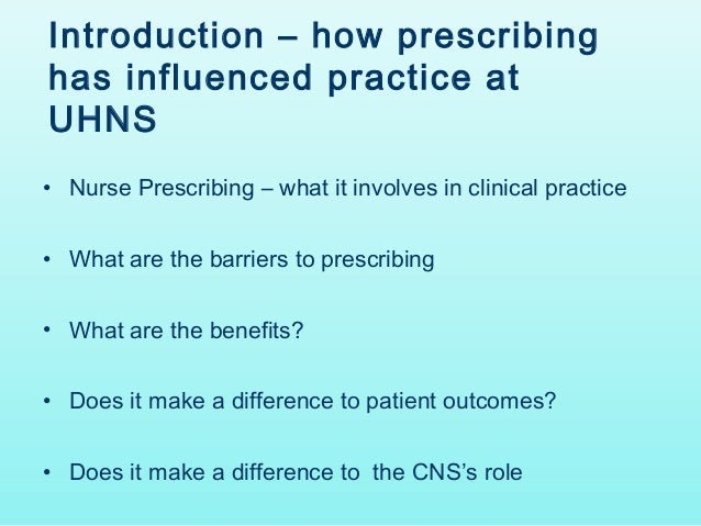 non medical independent supplementary prescribers nursing essay A systematic review of the social and cognitive influences on  independent non-medical prescribers are responsible for the clinical  supplementary and .