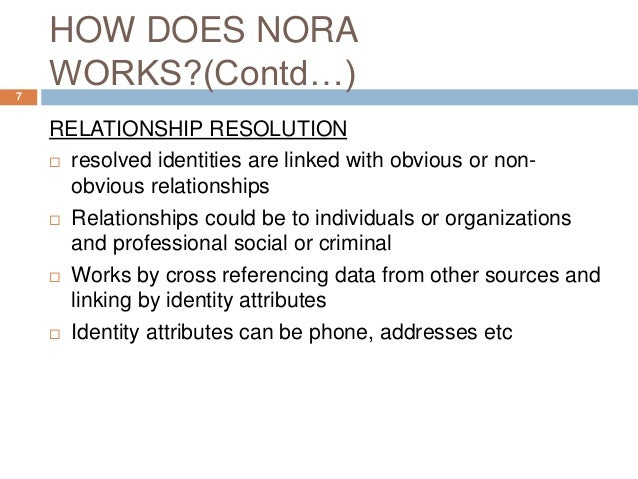 nora for non obvious relationship awareness