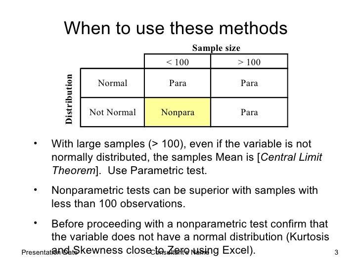 Parametric Hypothesis Testing