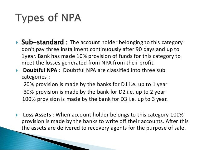 Non performing assets npa essay