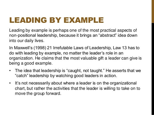 non-positional leadership