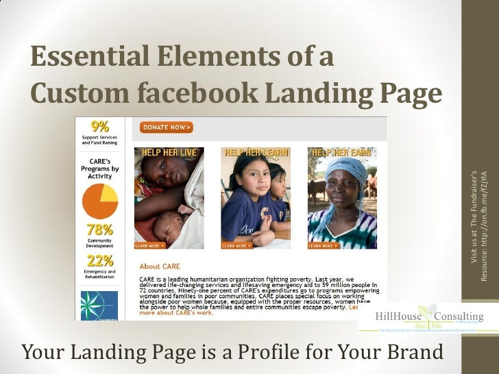 Essential Elements of aCustom facebook Landing Page                                                     Visit us at The Fu...