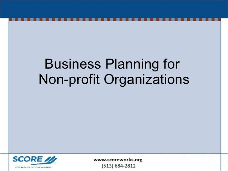Business Planning for  Non-profit Organizations