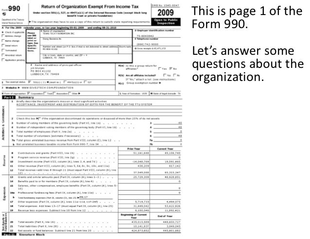 Nonprofit Death And Irs Form 990