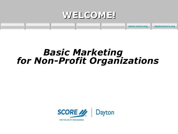 non profit marketing plan essay A marketing plan may be part of an overall business plan  most organizations  track their sales results or, in non-profit organizations for example, the number.