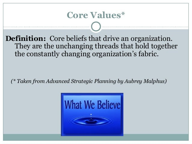 Nonprofit values statement