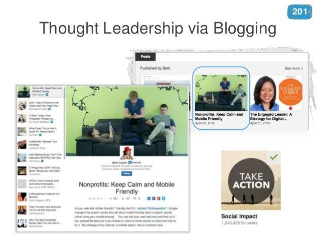 Thought Leadership via Blogging 201