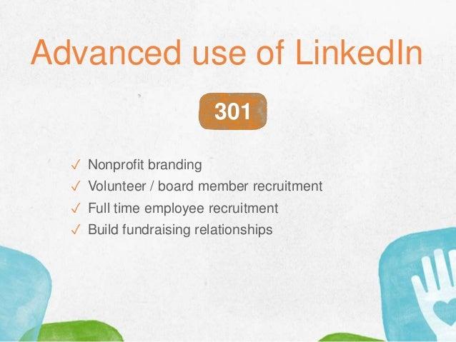 ✓ Nonprofit branding ✓ Volunteer / board member recruitment ✓ Full time employee recruitment ✓ Build fundraising relations...