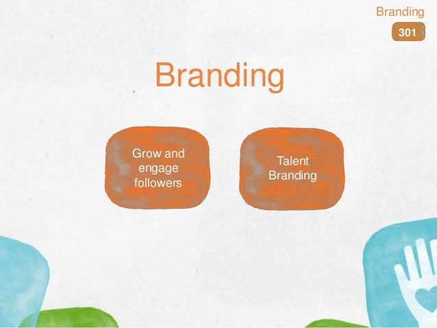 Branding 301 Branding Grow and engage followers Talent Branding