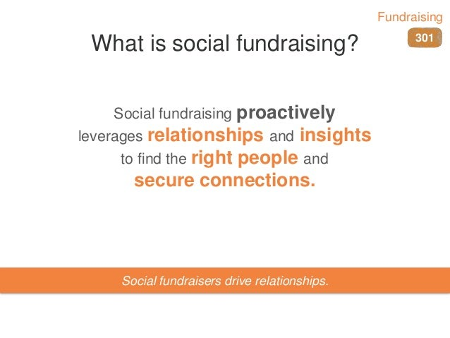 What is social fundraising? Social fundraising proactively leverages relationships and insights to find the right people a...
