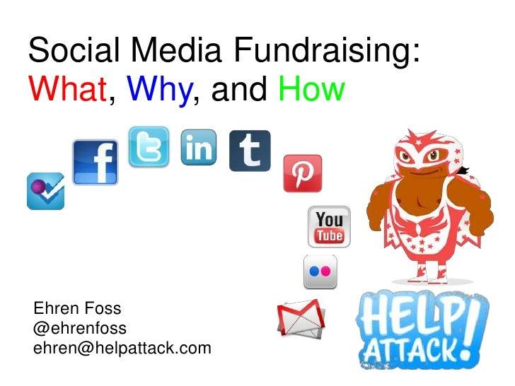 Social Media Fundraising:What, Why, and HowEhren Foss@ehrenfossehren@helpattack.com