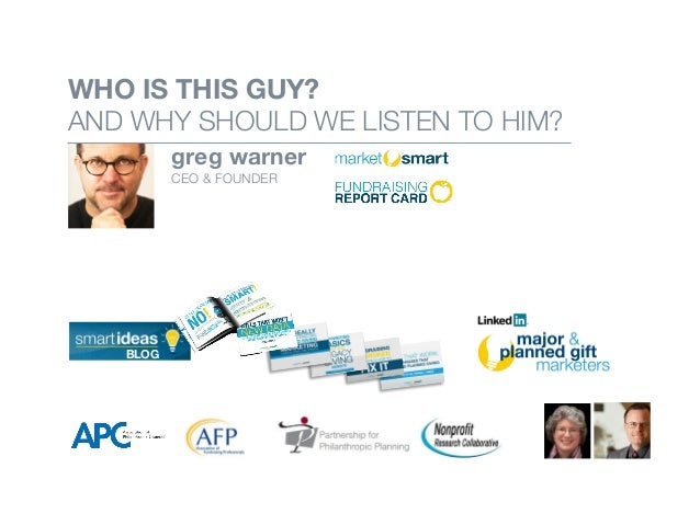 WHO IS THIS GUY? AND WHY SHOULD WE LISTEN TO HIM? greg warner CEO & FOUNDER