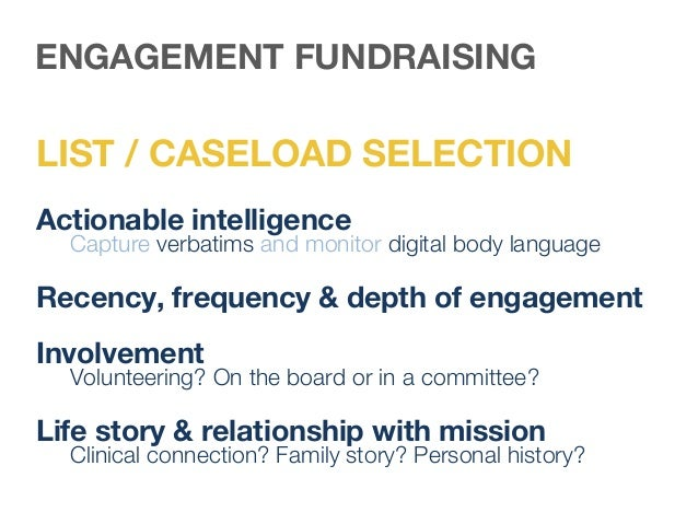 Offer value to get and keep prospects engaged ENGAGEMENT FUNDRAISING