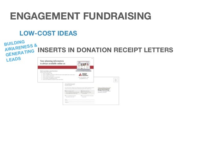 LOW-COST IDEAS PLANNED GIFT MARKETING LARGE VISUAL DISPLAYS BUILDING AWARENESS ENGAGEMENT FUNDRAISING