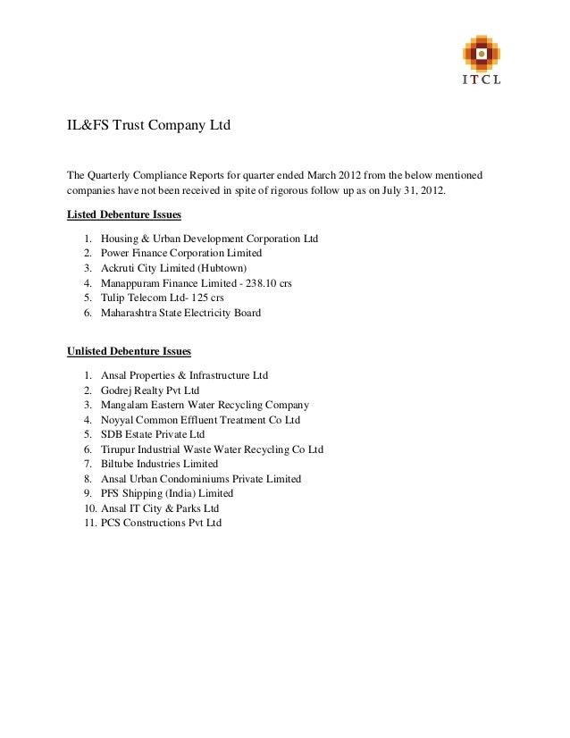 Non Receipt Of_Quarterly_Compliance_Reports