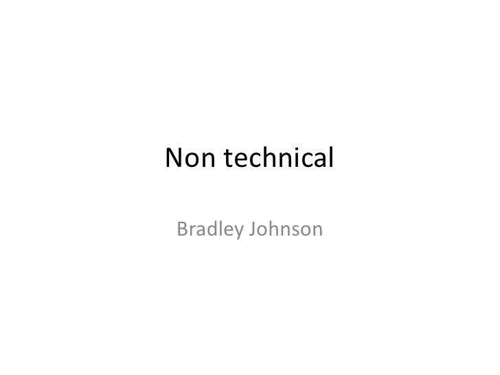 Non technicalBradley Johnson