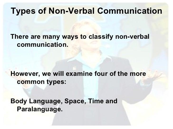 Types of Non-Verbal Communication <ul><li>There are many ways to classify non-verbal communication.  </li></ul><ul><li>How...