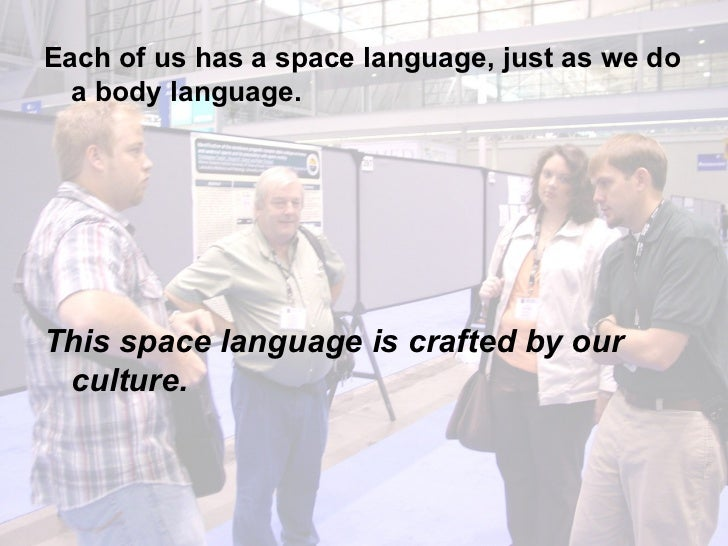 <ul><li>Each of us has a space language, just as we do a body language.  </li></ul><ul><li>This space language is crafted ...