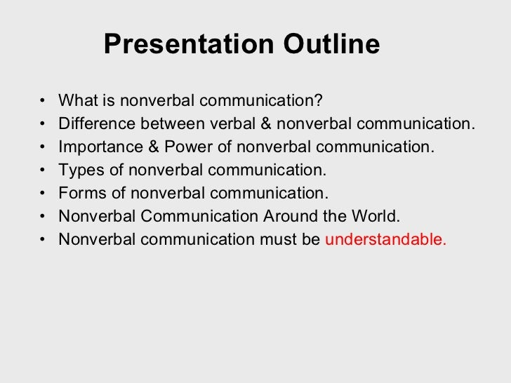 non spoken interaction presentation