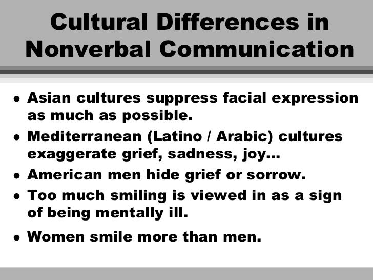 nonverbal communication in different cultures essay Differences between cultures in non-verbal communication to analyzing the difference of nonverbal communication in different culture 5 non-verbal communication essayyour body and face.