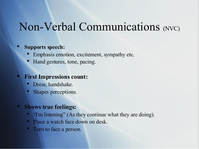 Observing non verbal communication