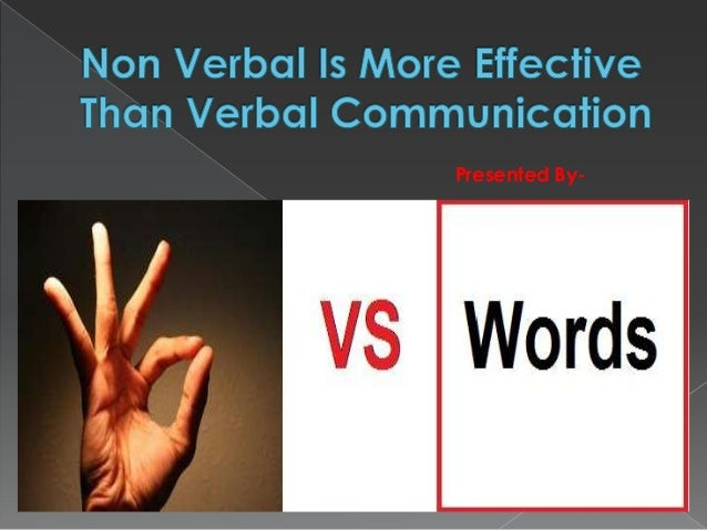 Visual communication more effective than verbal