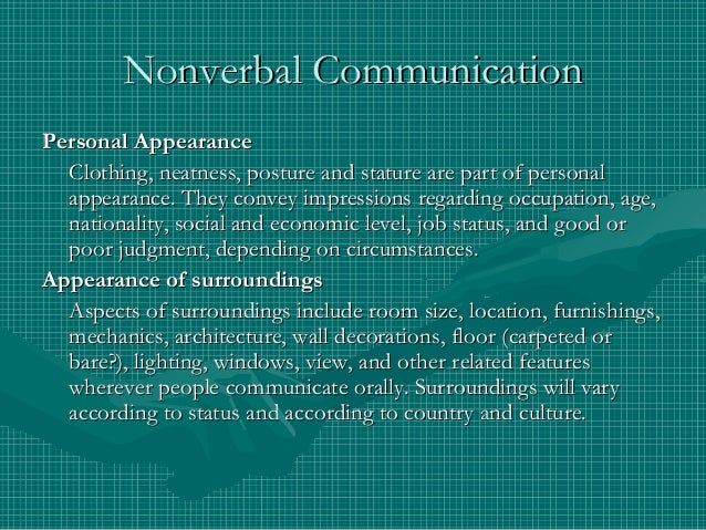 personal view nonverbal communications Start studying nonverbal communication: appearance, gestures, and expressions learn vocabulary, terms, and more with flashcards, games, and other study tools.