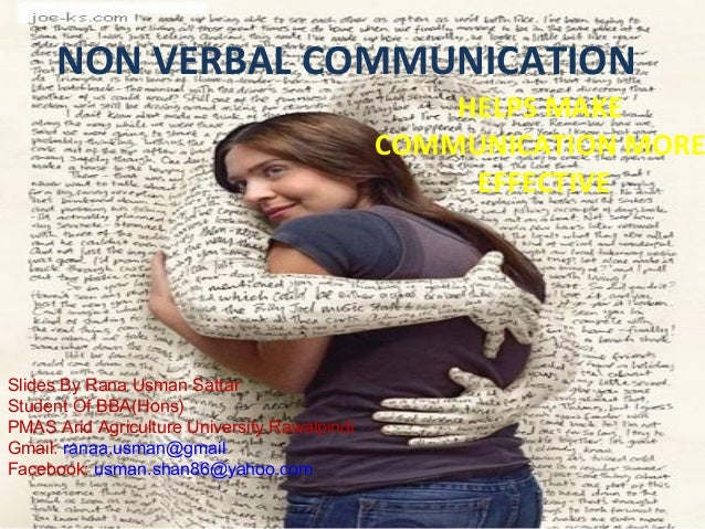 NON VERBAL COMMUNICATION                                                  HELPS MAKE                                      ...