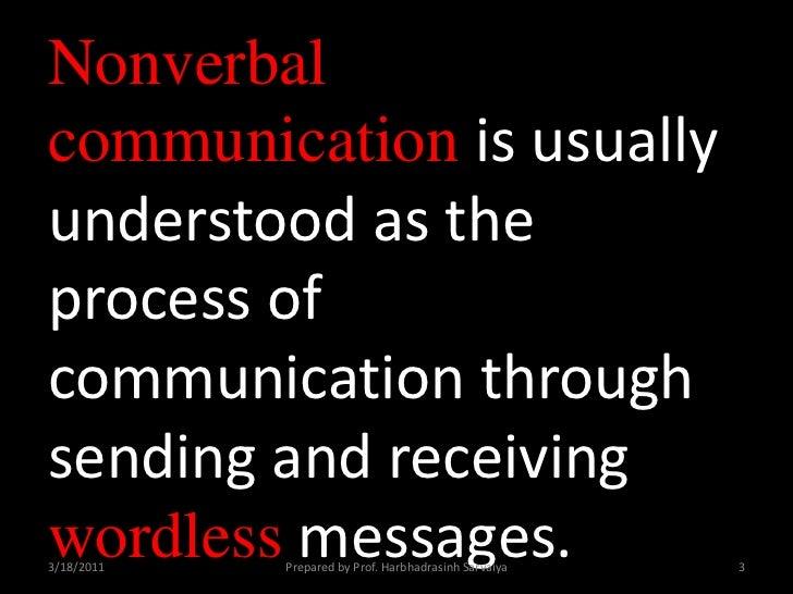 Non verbal communication for slideshare