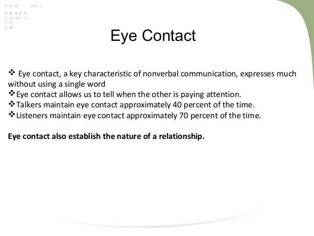 Indirect eye contact